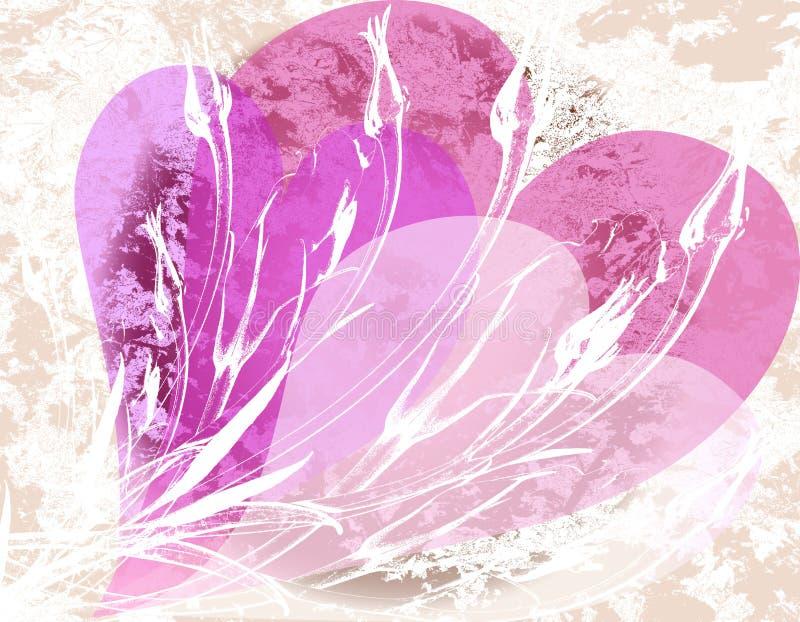 Tarjeta del día de San Valentín de Grunge libre illustration