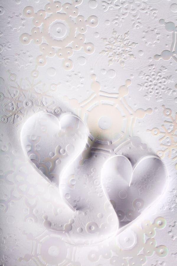 Tarjeta del día de San Valentín de papel del St del fondo de los corazones fotografía de archivo libre de regalías