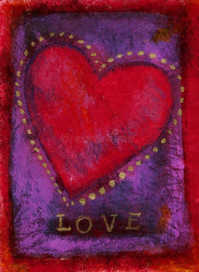 Tarjeta del día de San Valentín del amor stock de ilustración