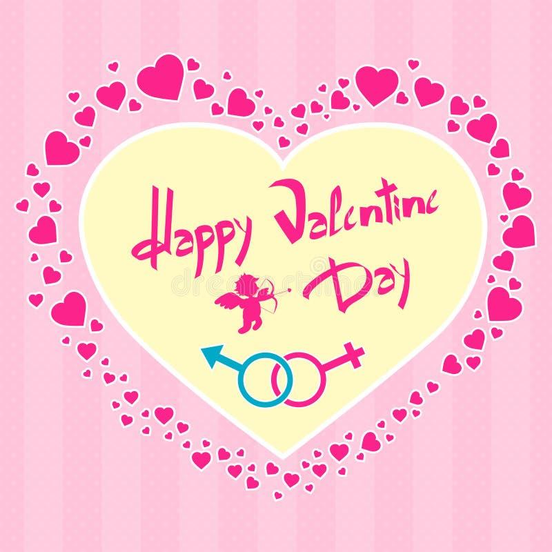 Tarjeta del día de San Valentín del cupido del ángel del carte cadeaux del día de tarjeta del día de San Valentín libre illustration