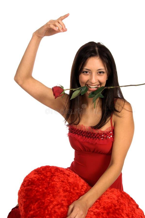 Tarjeta del día de San Valentín del tango fotografía de archivo