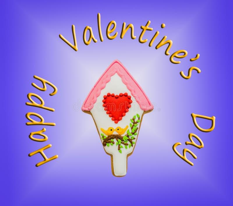 Tarjeta del día de San Valentín feliz foto de archivo libre de regalías