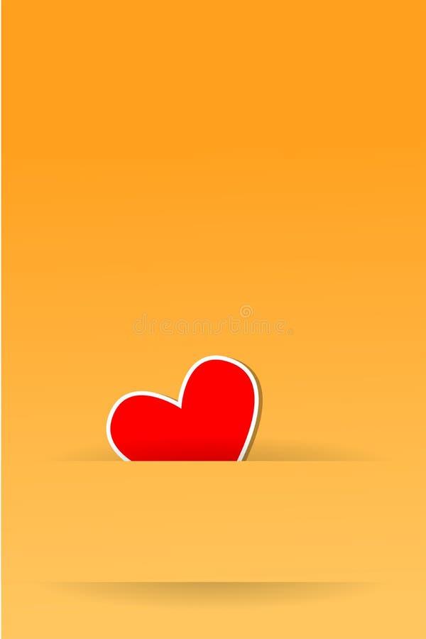 Tarjeta del día de San Valentín feliz de la tarjeta de felicitación ilustración del vector