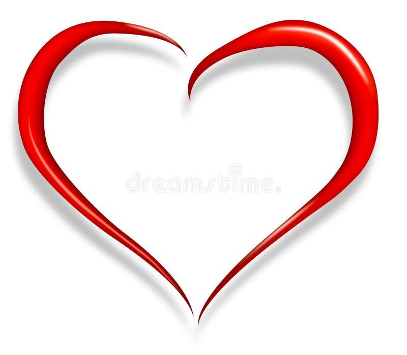 Tarjeta del día de San Valentín feliz del corazón del amor libre illustration