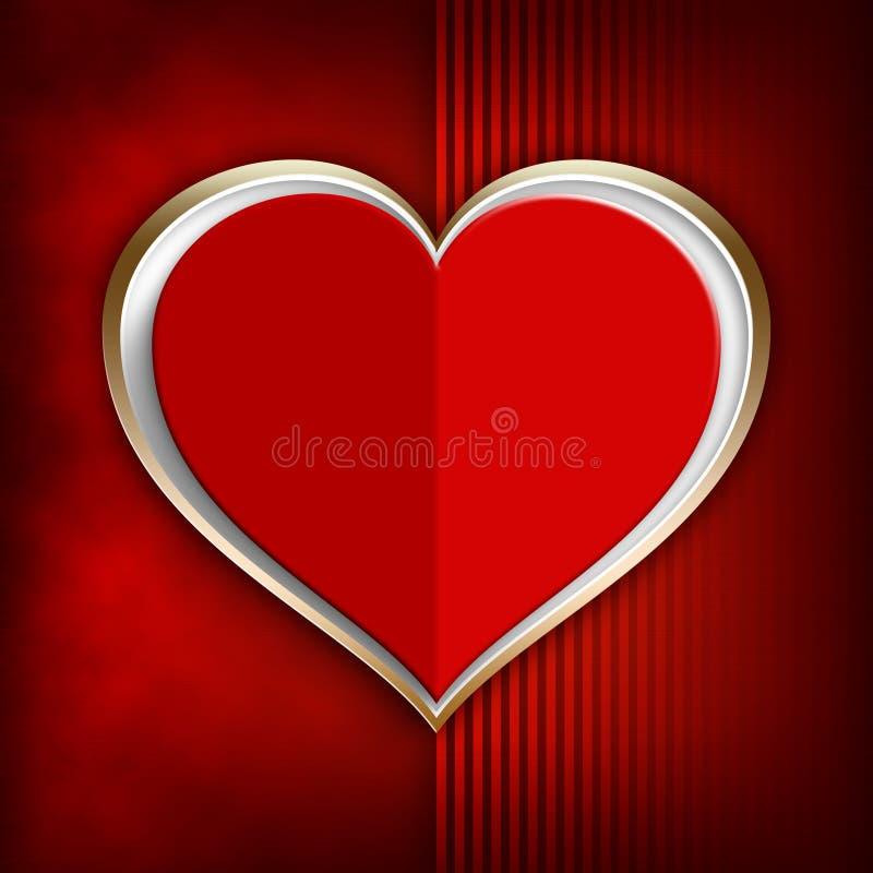 Tarjeta del día de San Valentín feliz - plantilla del fondo ilustración del vector