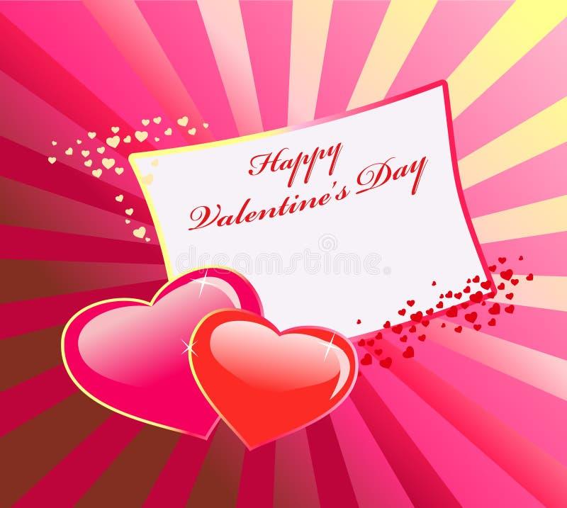 Tarjeta del día de San Valentín \ 'fondo del día de s libre illustration