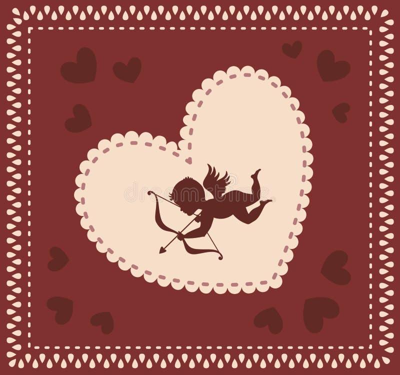 Tarjeta del día de San Valentín \ 'fondo del día de s con el cupid libre illustration