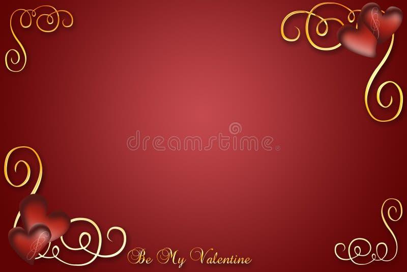 Tarjeta del día de San Valentín roja stock de ilustración