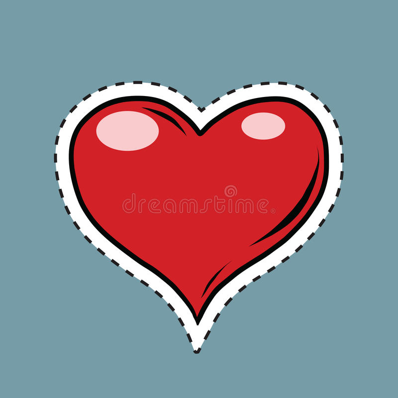 Tarjeta Del Día De San Valentín Roja Del Corazón, Etiqueta ...