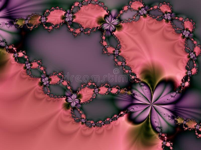 Tarjeta del día de San Valentín rosada y púrpura   libre illustration