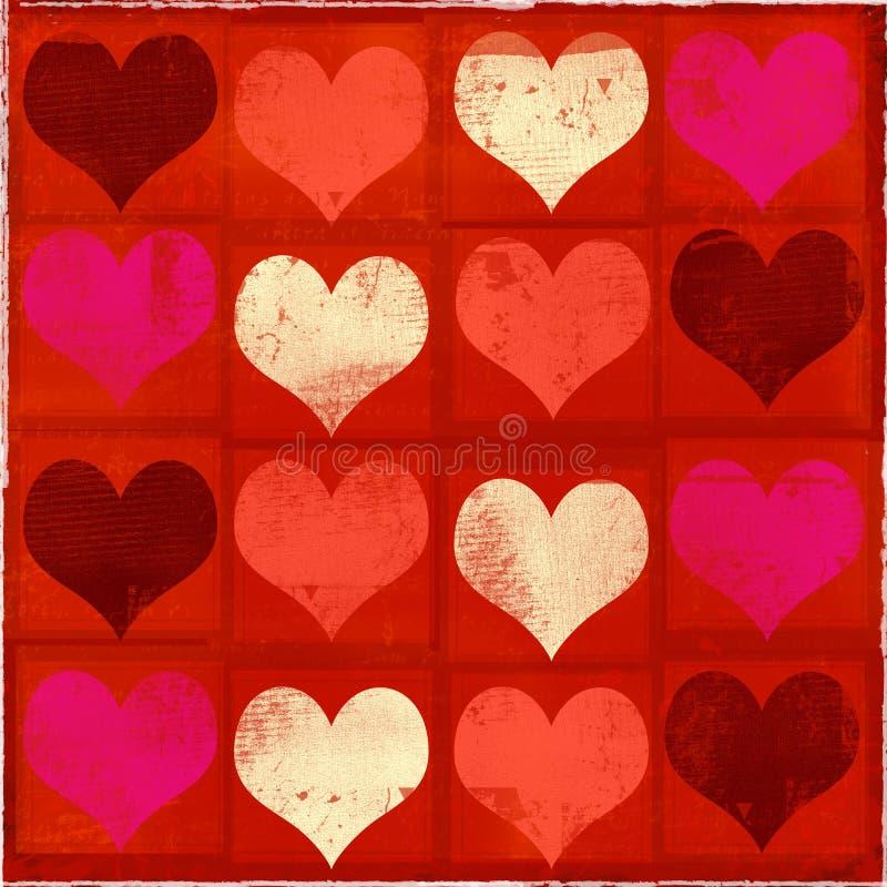 Tarjeta del día de San Valentín sucia libre illustration