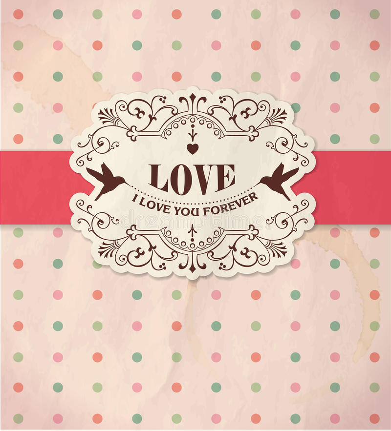 Tarjeta del día de San Valentín \ 'tarjeta del día de s stock de ilustración