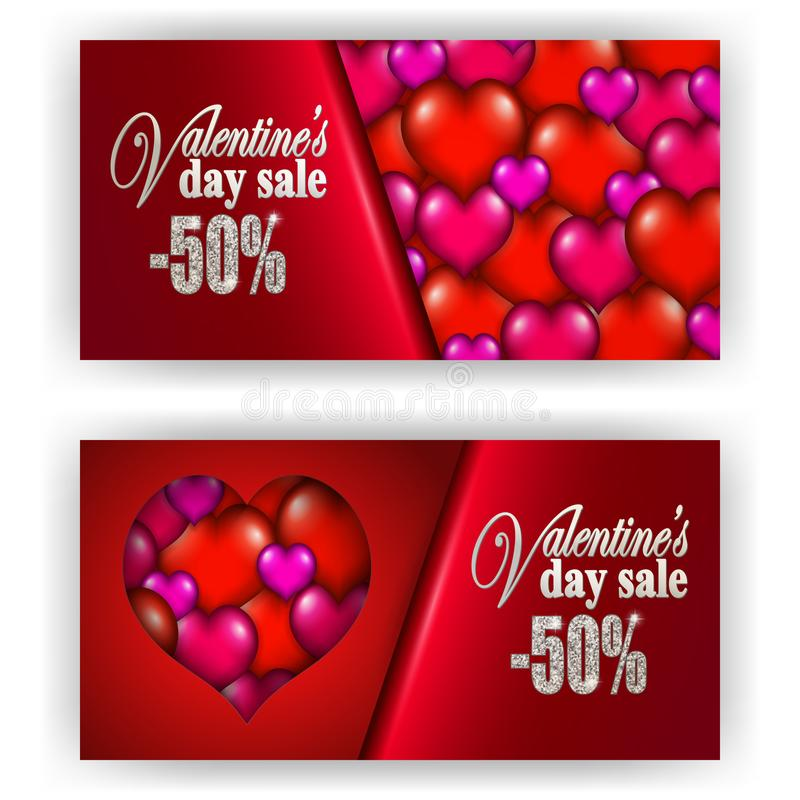 Tarjeta del día de San Valentín del vale de regalo libre illustration