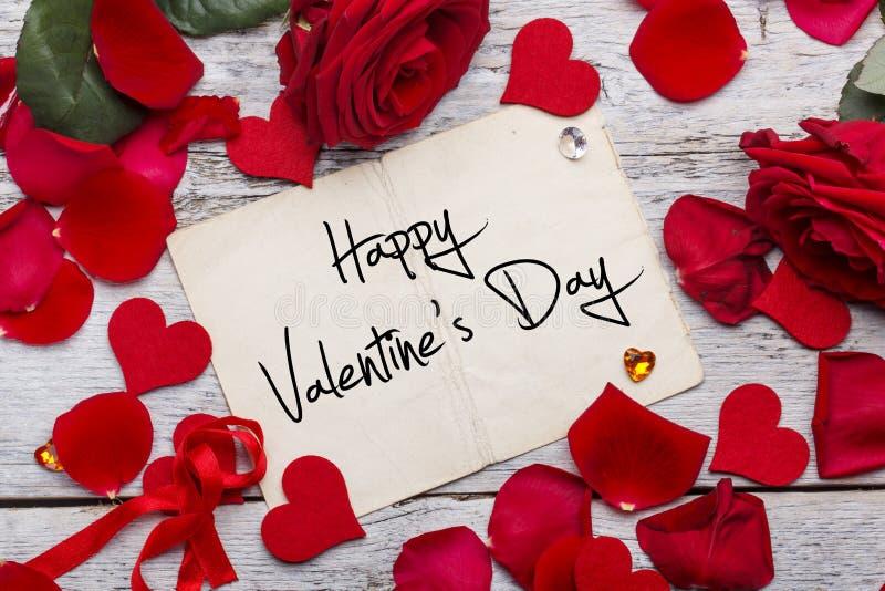 Tarjeta del día de tarjeta del día de San Valentín imagenes de archivo
