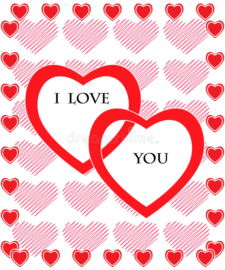 Tarjeta del día de tarjeta del día de San Valentín libre illustration