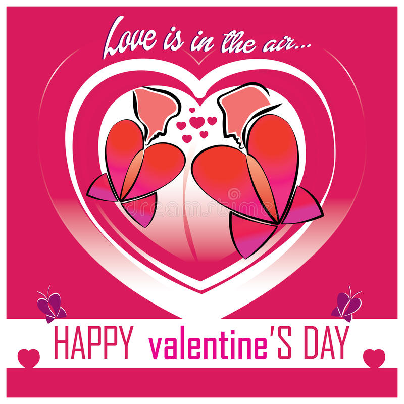 Tarjeta del día de tarjeta del día de San Valentín ilustración del vector