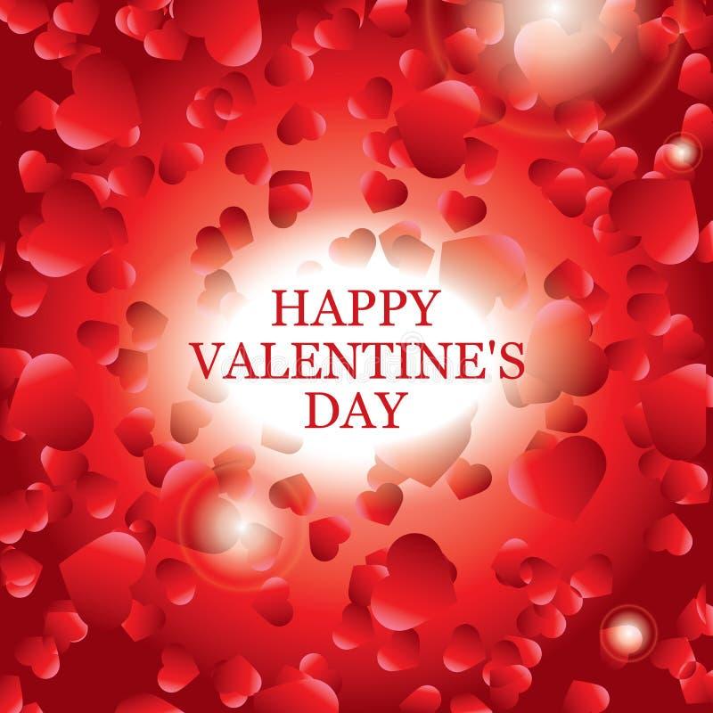 Tarjeta del día de tarjeta del día de San Valentín, diseño de la bandera stock de ilustración