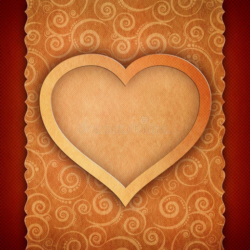 Tarjeta del día de tarjetas del día de San Valentín libre illustration