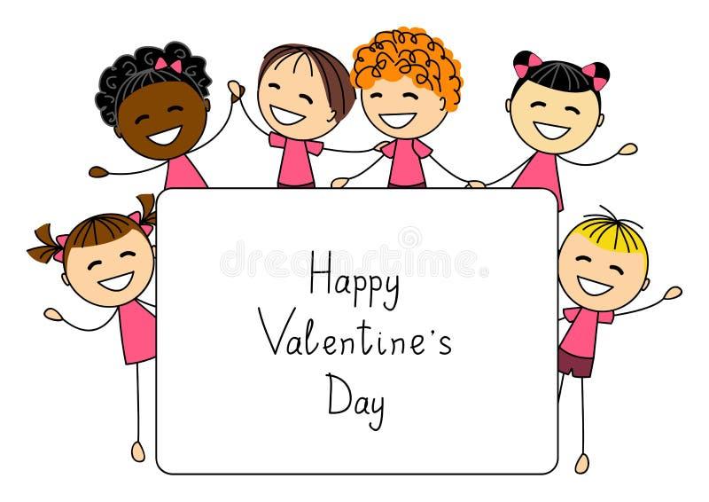 Tarjeta del día de tarjetas del día de San Valentín stock de ilustración