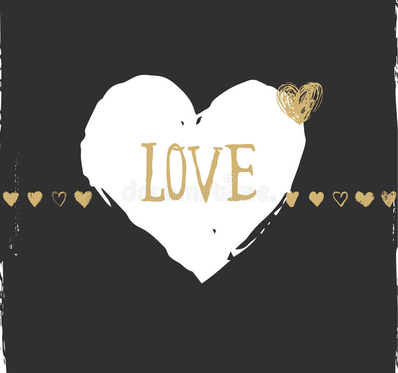 Tarjeta del día de tarjetas del día de San Valentín y de felicitación de la boda y stock de ilustración