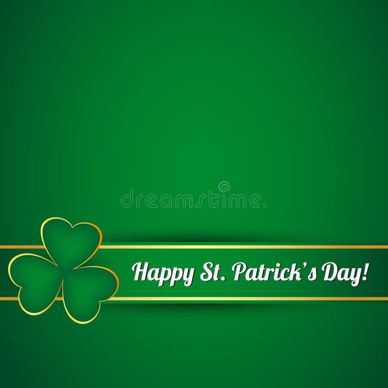Tarjeta del día del St. Patricks stock de ilustración