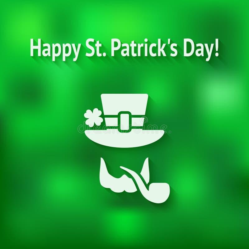 Tarjeta del día del St Patricks stock de ilustración