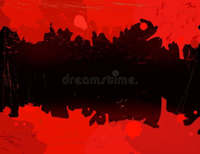 Tarjeta del derramamiento de la sangre stock de ilustración