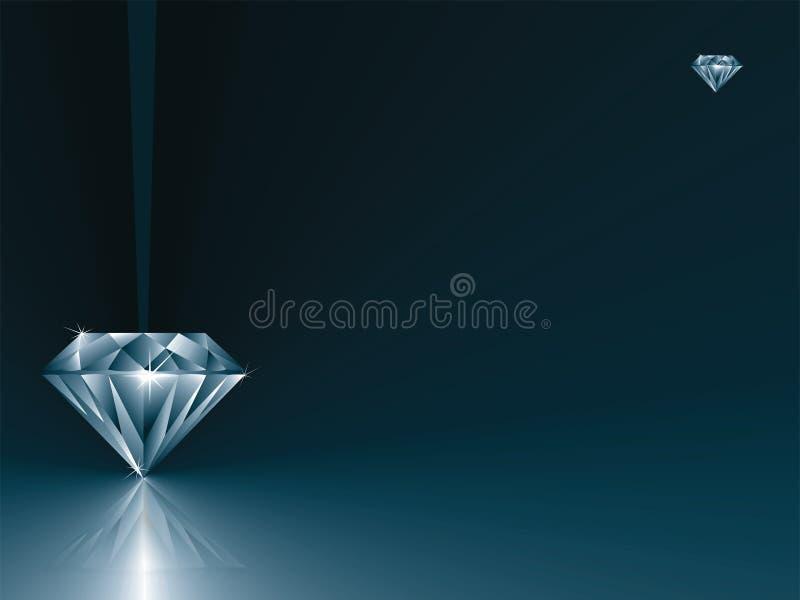 Tarjeta del diamante libre illustration