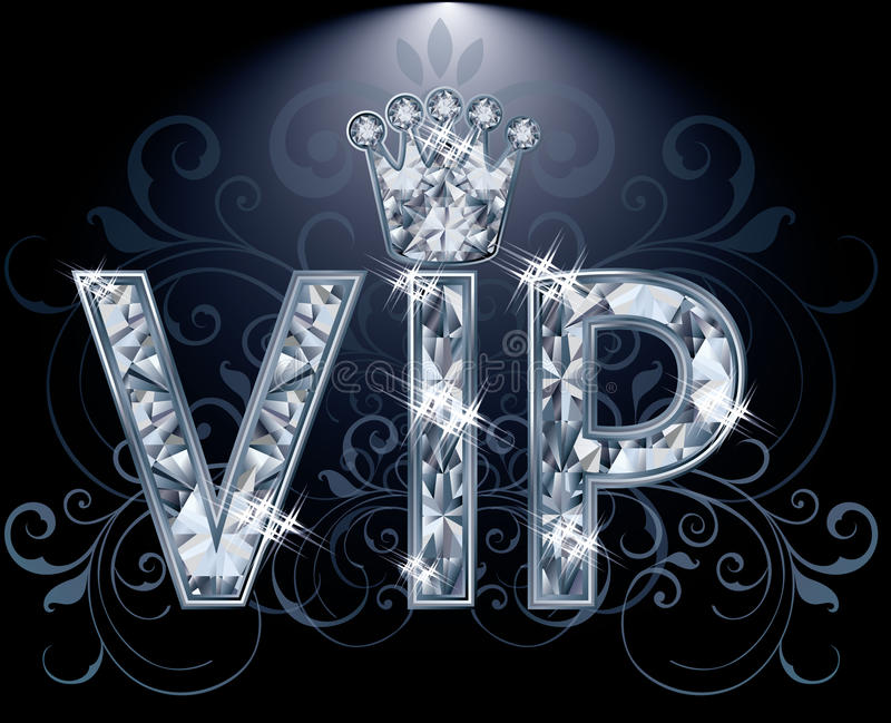 Tarjeta del diamante del VIP ilustración del vector