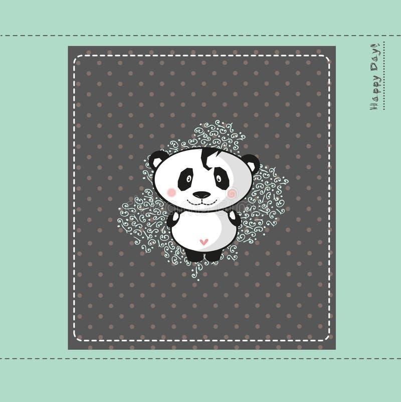 Tarjeta del diseño de la panda del bebé libre illustration