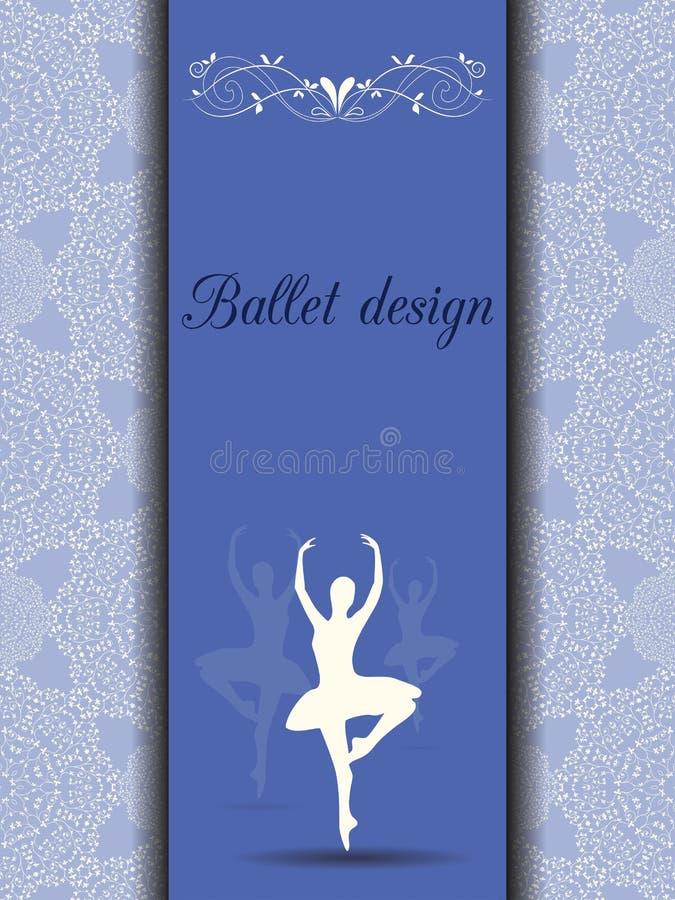 Tarjeta del diseño del ballet ilustración del vector