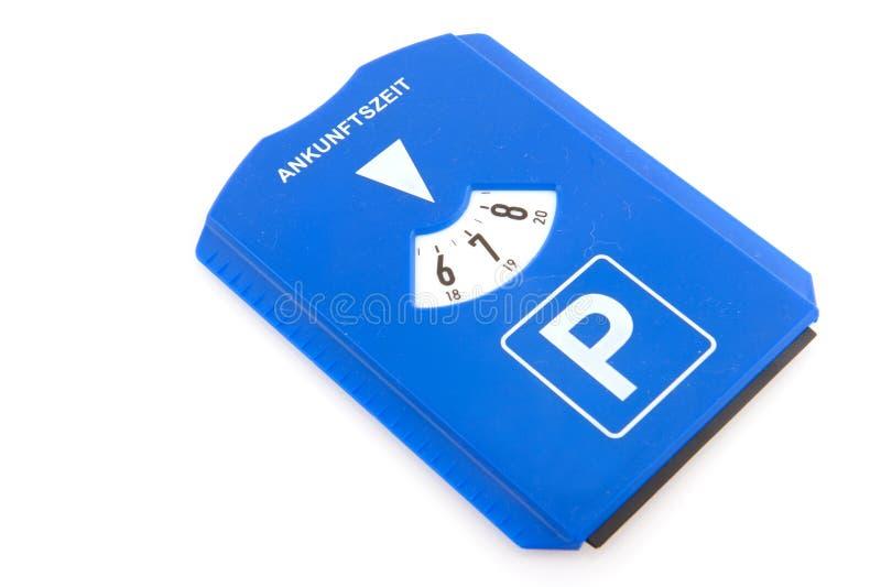Tarjeta del estacionamiento fotografía de archivo libre de regalías