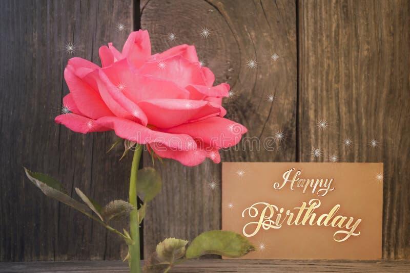 Tarjeta del feliz cumpleaños imagen de archivo
