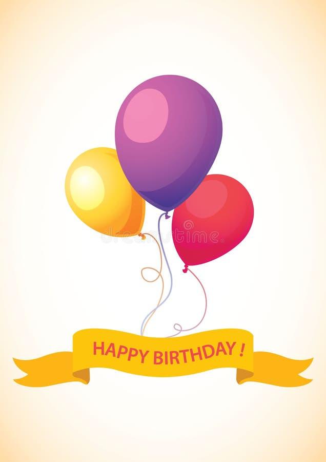 Download Tarjeta Del Feliz Cumpleaños Ilustración del Vector - Ilustración de partido, contexto: 42428523