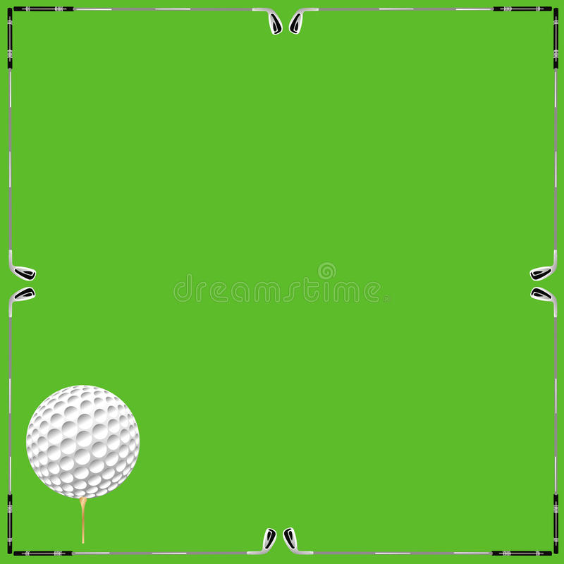 Tarjeta del fondo del golf libre illustration