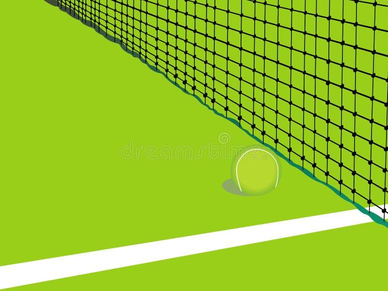 Tarjeta del fondo del tenis fotos de archivo