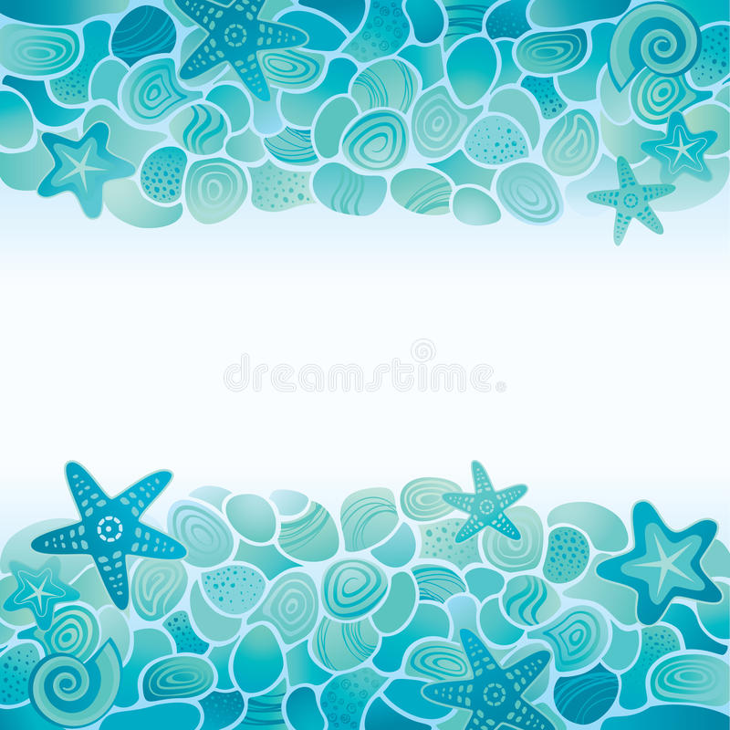 Tarjeta del fondo marino ilustración del vector