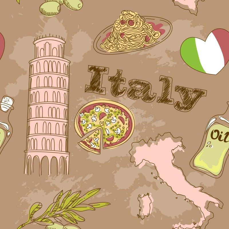 Tarjeta del grunge del recorrido de Italia libre illustration