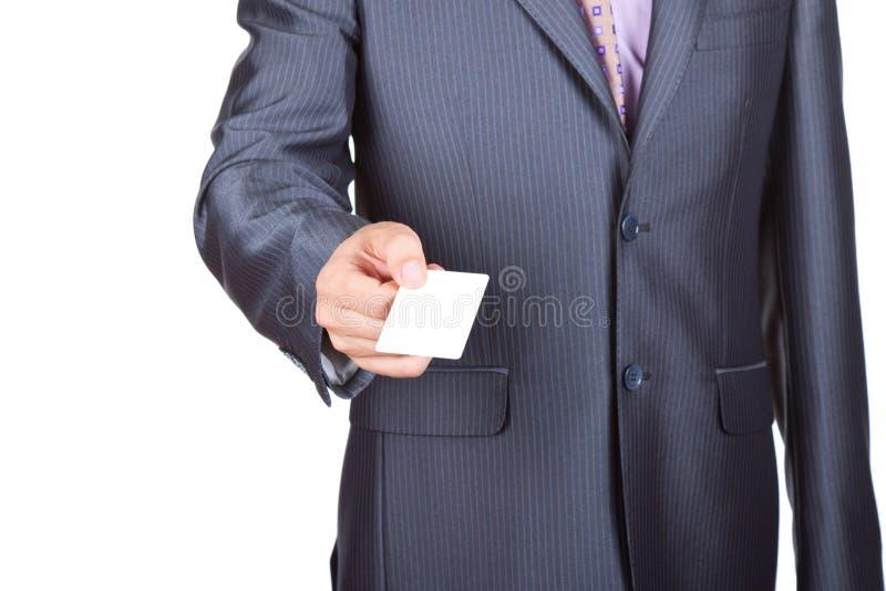 Tarjeta del hombre de negocios fotografía de archivo