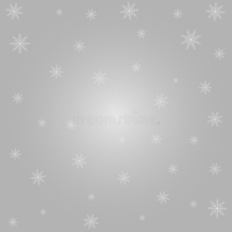 Tarjeta del invierno con los copos de nieve Ejemplo de papel del vector ilustración del vector
