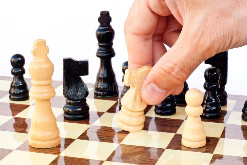 Tarjeta del juego de ajedrez fotos de archivo