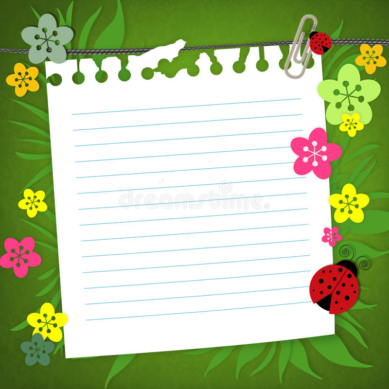 Tarjeta del libro de recuerdos del bebé libre illustration