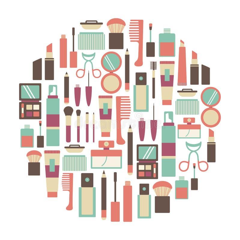 Tarjeta del maquillaje libre illustration