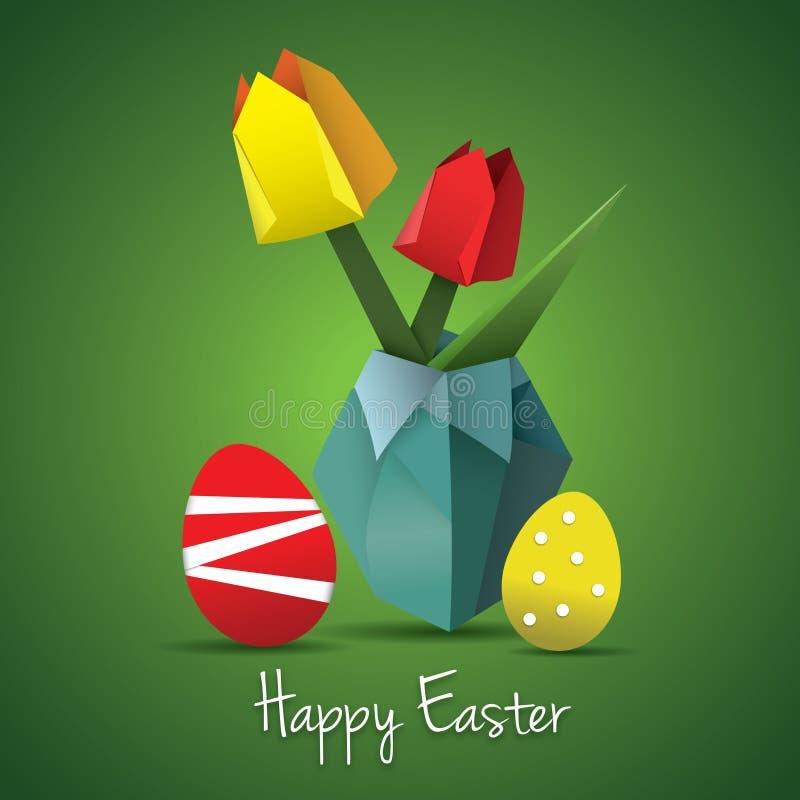 Tarjeta del origami de Pascua libre illustration