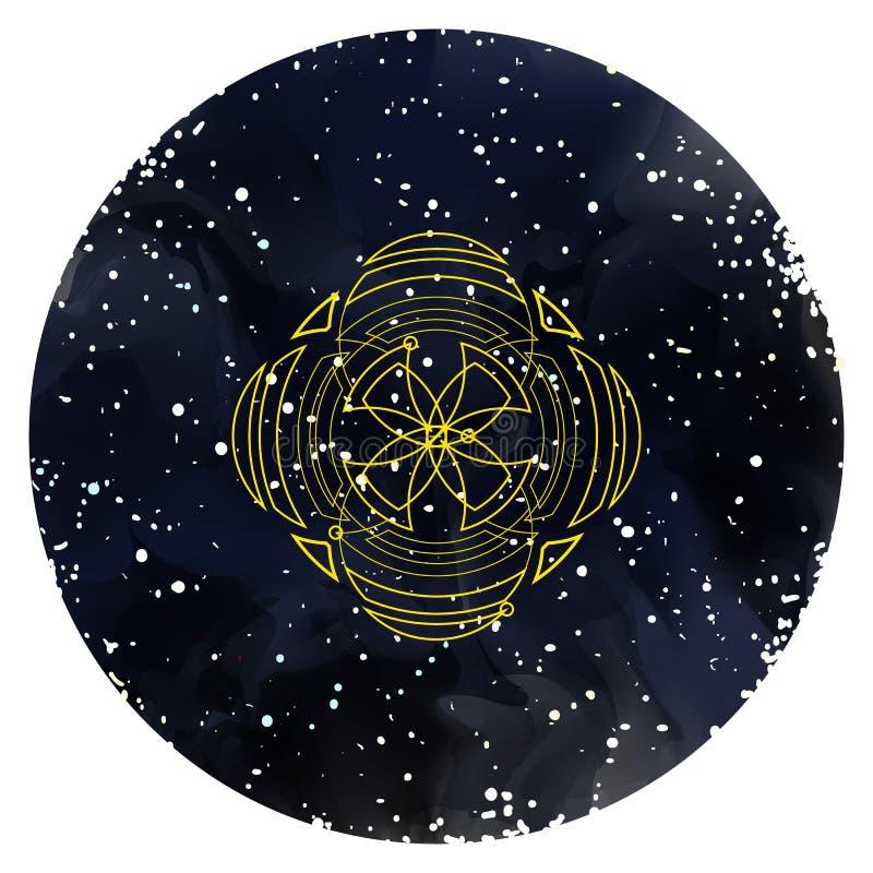 Tarjeta del ornamento con geometría sagrada Vector libre illustration