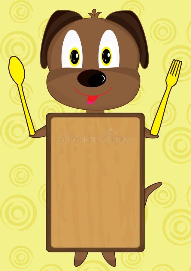 Tarjeta del perro de la historieta stock de ilustración