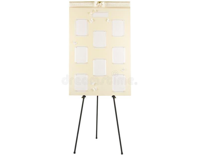 Tarjeta del plan del asiento de la boda fotografía de archivo libre de regalías