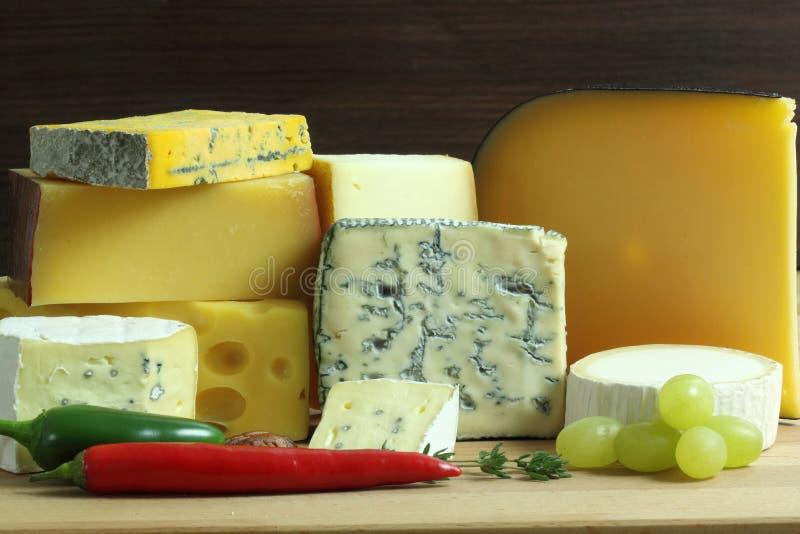 Tarjeta del queso fotografía de archivo