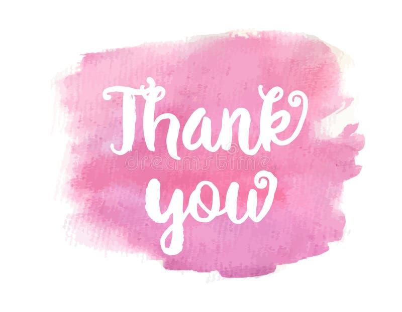 Tarjeta del regalo aislada en blanco Cita de motivaci?n inspirada La tinta del vector pintó las letras en fondo rosado de la acua libre illustration