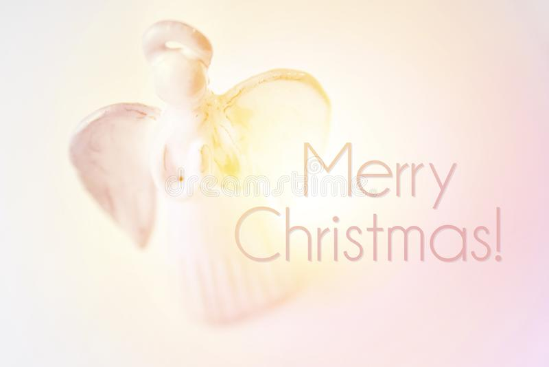 Tarjeta del regalo de la Feliz Navidad foto de archivo libre de regalías